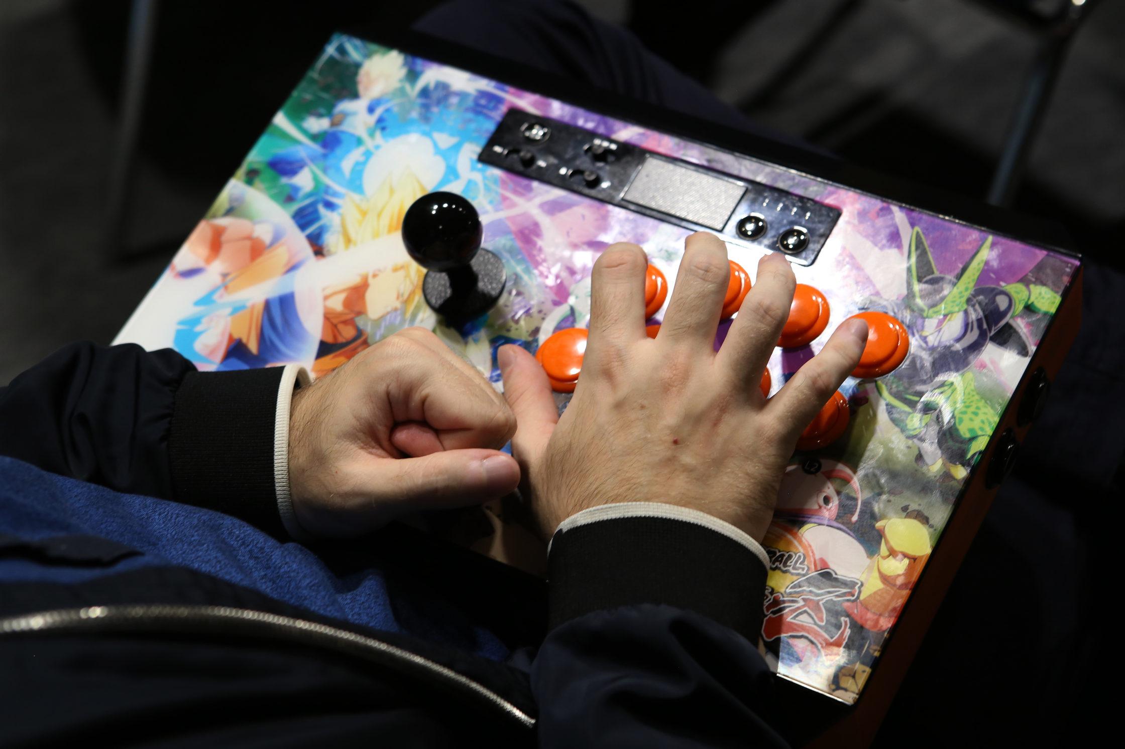VGE 2019: Closeup of arcade machine